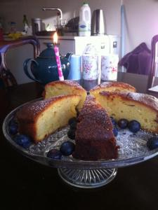 My birthday cake, baked by Cathy